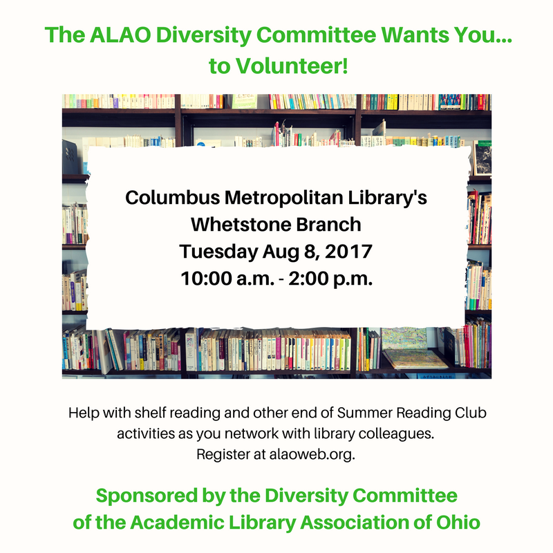 Academic Library Association of Ohio (ALAO) - Diversity